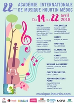Affiche 2018 académie Internationale de Musique Hourtin Médoc